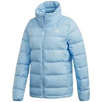 Clothing Women Jackets adidas Originals W Helionic 3 Stripes Light blue