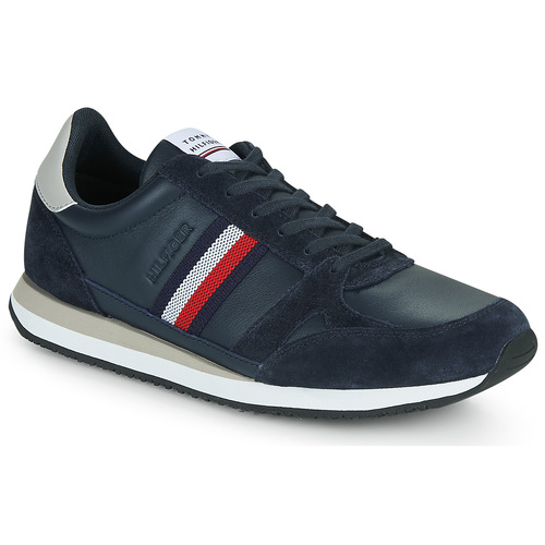 Shoes Men Low top trainers Tommy Hilfiger RUNNER LO LEATHER STRIPES Marine
