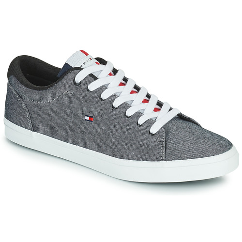 Shoes Men Low top trainers Tommy Hilfiger ESSENTIAL CHAMBRAY VULCANIZED Grey