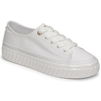 Shoes Women Low top trainers Tommy Hilfiger SHINY FLATFORM VULC SNEAKER White