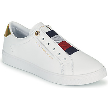 Shoes Women Low top trainers Tommy Hilfiger TH ELASTIC SLIP ON SNEAKER White