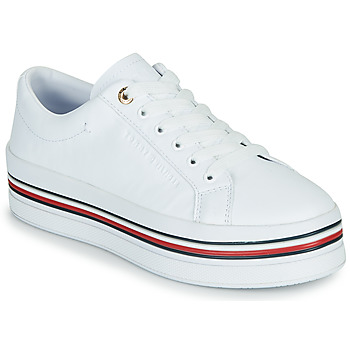 Shoes Women Low top trainers Tommy Hilfiger CORPORATE FLATFORM CUPSOLE White