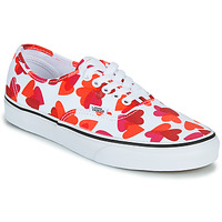 Shoes Women Low top trainers Vans AUTHENTIC White / Red