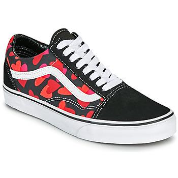 Shoes Women Low top trainers Vans OLD SKOOL Black / Red
