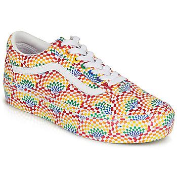 Shoes Women Low top trainers Vans OLD SKOOL PLATFORM Multicolour