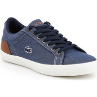Shoes Men Low top trainers Lacoste Lerond 317 2 CAM 7-34CAM00422Q8 navy , brown