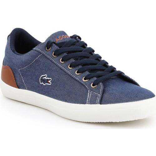 Shoes Men Low top trainers Lacoste Lerond 317 2 CAM 7-34CAM00422Q8 navy , brown