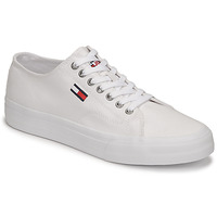 Shoes Men Low top trainers Tommy Jeans LONG LACE UP VULC White