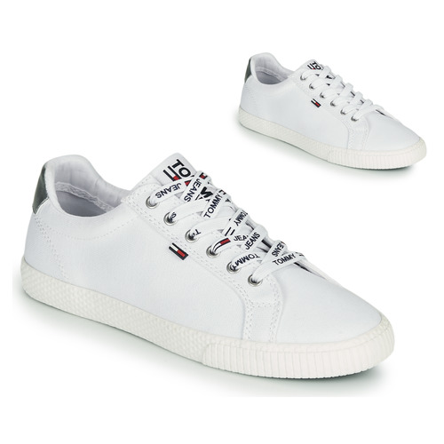 Shoes Women Low top trainers Tommy Jeans TOMMY JEANS CASUAL SNEAKER White