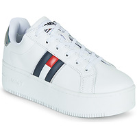 Shoes Women Low top trainers Tommy Jeans IRIDESCENT ICONIC SNEAKER White