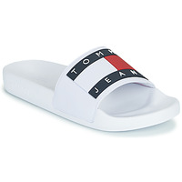 Shoes Women Sliders Tommy Jeans TOMMY JEANS FLAG POOL SLIDE White