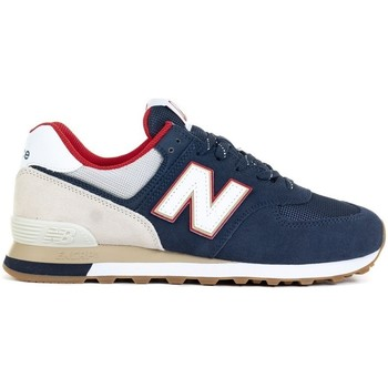 Shoes Men Low top trainers New Balance 574 Red, Beige, Navy blue