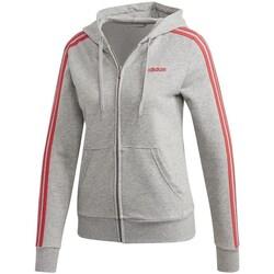 Clothing Women Sweaters adidas Originals Essentials 3S Full Zip Hoodie Grey