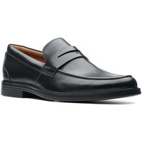Shoes Men Loafers Clarks Un Aldric Step Men&039;s Penny Loafer Wide black