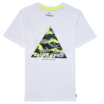 Clothing Boy Short-sleeved t-shirts Jack & Jones JJPRIME TEE White