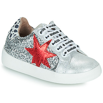 Shoes Girl Low top trainers Acebo's 5461GL-PLATA-C Silver