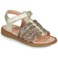 Shoes Girl Sandals Acebo's 5498GE-PLATINO-C Gold