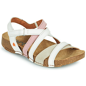 Shoes Women Sandals Art I BREATHE White / Pink / Beige