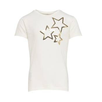 Clothing Girl Short-sleeved t-shirts Only KONMOULINS STAR White