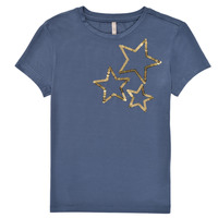 Clothing Girl Short-sleeved t-shirts Only KONMOULINS STAR Blue