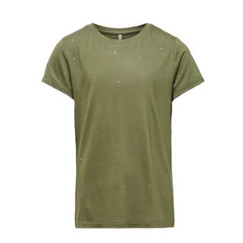 Clothing Girl Short-sleeved t-shirts Only KONMOULINS Kaki