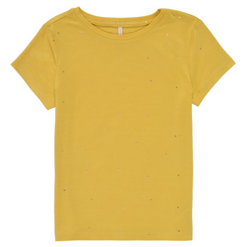 Clothing Girl Short-sleeved t-shirts Only KONMOULINS Yellow