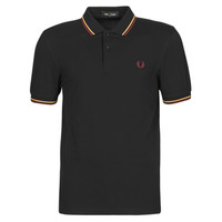 Clothing Men Short-sleeved polo shirts Fred Perry TWIN TIPPED FRED PERRY SHIRT Black