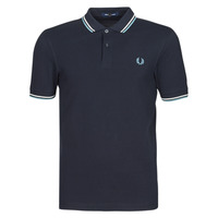 Clothing Men Short-sleeved polo shirts Fred Perry TWIN TIPPED FRED PERRY SHIRT Marine / White / Blue