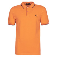 Clothing Men Short-sleeved polo shirts Fred Perry TWIN TIPPED FRED PERRY SHIRT Camel