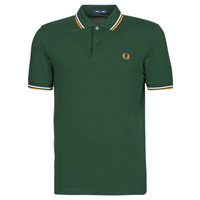 Clothing Men Short-sleeved polo shirts Fred Perry TWIN TIPPED FRED PERRY SHIRT Green