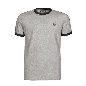 Clothing Men Short-sleeved t-shirts Fred Perry TAPED RINGER T-SHIRT Grey