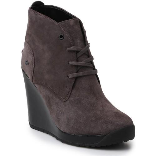 Shoes Women Ankle boots Lacoste Jarriselle SRW DK 7-28SRW1140248 grey