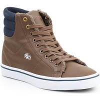 Shoes Women Hi top trainers Lacoste Marcel MID PWT DK 7-26SPW4118DK4 brown, navy