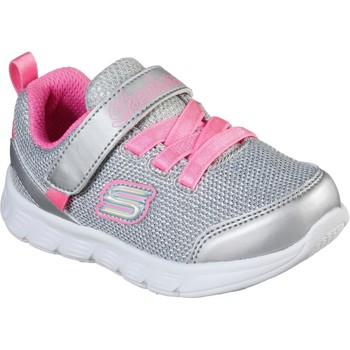 Shoes Girl Low top trainers Skechers 302107N-SLHP-21 Comfy Flex Moving On Silver and Hot Pink