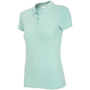 Clothing Women Short-sleeved polo shirts 4F TSD008 Green