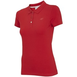 Clothing Women Short-sleeved polo shirts 4F TSD008 Red