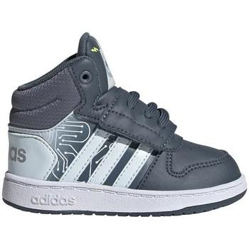 Shoes Children Hi top trainers adidas Originals Hoops Mid 20 I White, Graphite