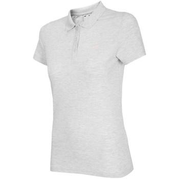Clothing Women Short-sleeved polo shirts 4F TSD007 White