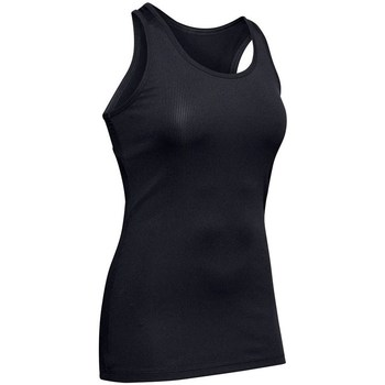 Clothing Women Tops / Sleeveless T-shirts Under Armour Victory Tank Black