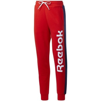 Clothing Women Tracksuit bottoms Reebok Sport TE Liner Logo French Terry Red