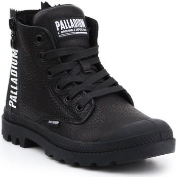Shoes Women Hi top trainers Palladium Pampa UBN ZIPS 96857-008-M black