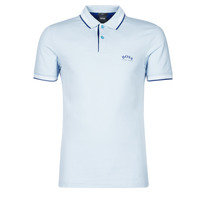 Clothing Men Short-sleeved polo shirts BOSS PAUL CURVED Blue / Sky