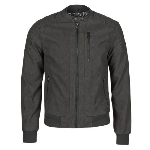 Clothing Men Leather jackets / Imitation leather Kaporal KYRO Black