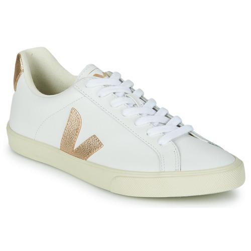 Shoes Women Low top trainers Veja ESPLAR LOGO White / Gold