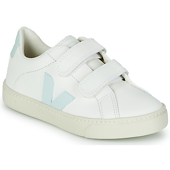 Shoes Girl Low top trainers Veja SMALL ESPLAR VELCRO White / Blue / Red