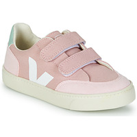 Shoes Girl Low top trainers Veja SMALL V-12 VELCRO Pink