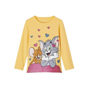 Clothing Girl Long sleeved tee-shirts Name it TOM&JERRY Yellow
