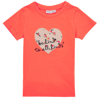 Clothing Girl Short-sleeved t-shirts Name it NMFDELFIN TOP Coral