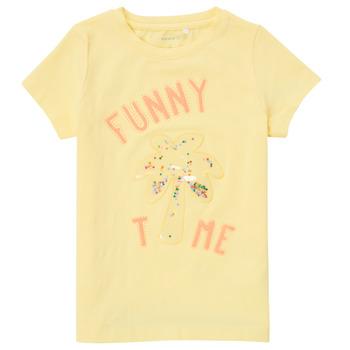 Clothing Girl Short-sleeved t-shirts Name it NMFFEFA Yellow