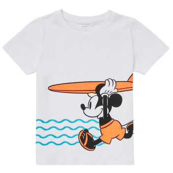 Clothing Boy Short-sleeved t-shirts Name it NMMMICKEY White
